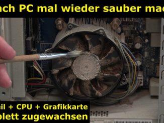 Einfach PC mal wieder sauber machen - Druckluft hilft hier nicht mehr - 4K Video