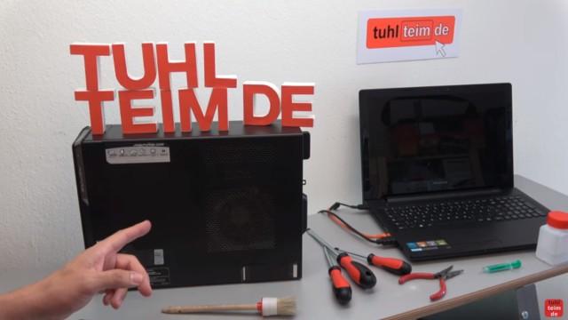 Einfach PC mal wieder sauber machen - Druckluft hilft hier nicht mehr - äußerlich sieht der PC normal aus