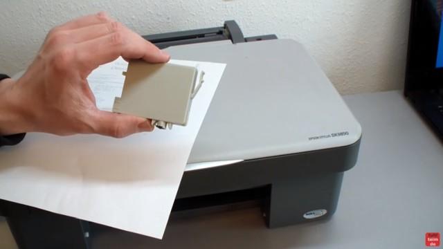 Epson Tintenstrahldrucker - Druckkopf reinigen ohne Ausbau - Ausdruck ist streifig - zuerst Patronen prüfen