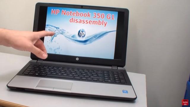 HP Notebook 350 G1 öffnen - Tastatur, Lüfter und Mainboard ausbauen - disassembly
