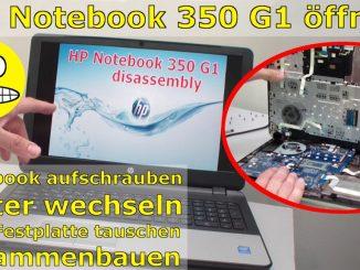 HP Notebook 350 G1 öffnen - Tastatur, Lüfter und Mainboard ausbauen