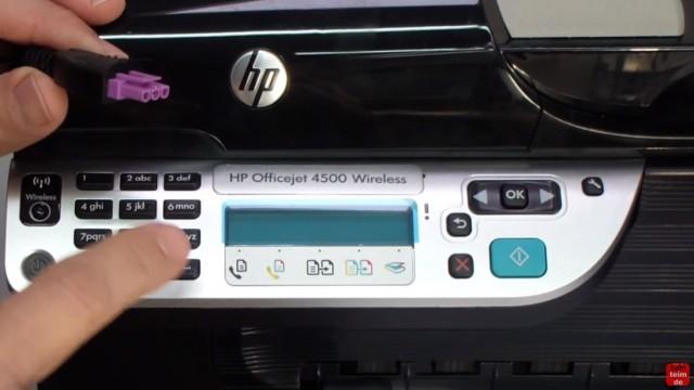 """HP OfficeJet 4500 Reset - Factory - Drucker zurücksetzen - bei ausgeschaltetem Gerät die Taste """"#"""" und """"6"""" drücken und gedrückt halten"""