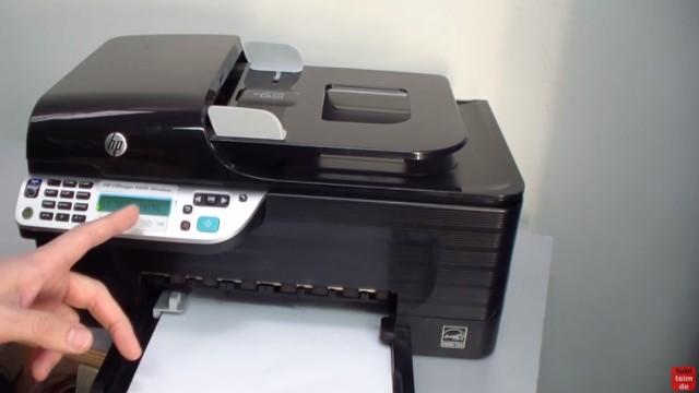 HP OfficeJet 4500 Reset - Factory - Drucker zurücksetzen - Drucker einschalten und warten bis Gerät bereit