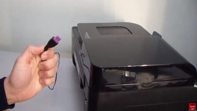 HP OfficeJet 4500 Reset - Factory - Drucker zurücksetzen - jetzt den Netzstecker bei eingeschaltetem Gerät herausziehen