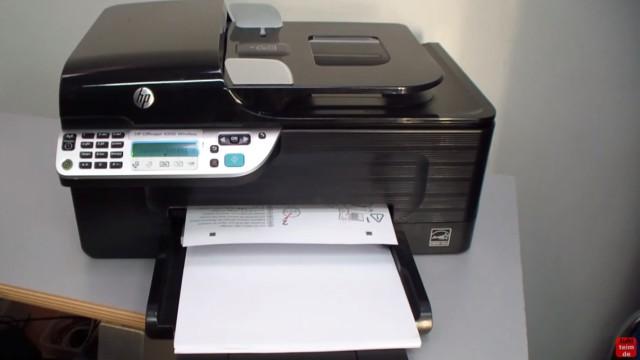 HP OfficeJet 4500 Reset - Factory - Drucker zurücksetzen - eine Testseite wird ausgedruckt und muss eingescannt werden