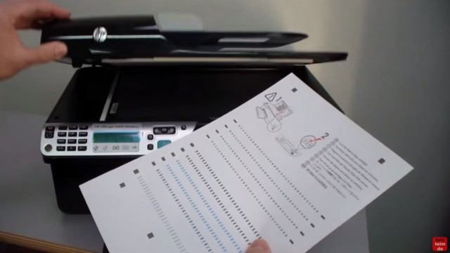 HP OfficeJet 4500 Reset - Factory - Drucker zurücksetzen - Ausdruck einscannen und Druckkopf ausrichten