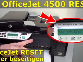 HP OfficeJet 4500 Reset - Factory - Drucker zurücksetzen
