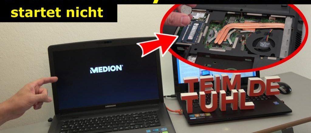 Medion Akoya Notebook startet nicht mehr - nur Medion Logo wird angezeigt - [4K Video]