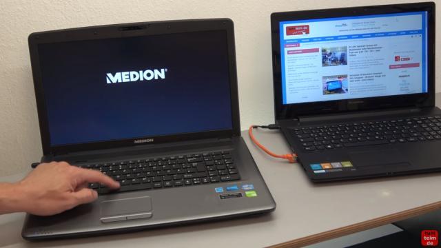 Medion Akoya Notebook startet nicht mehr - nur Medion Logo wird angezeigt - das Gerät wurde eingeschaltet und friert direkt ein