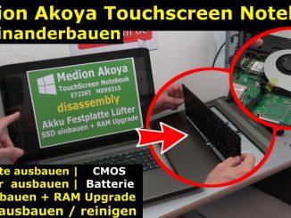 Medion Akoya Touchscreen öffnen SSD HDD RAM Lüfter