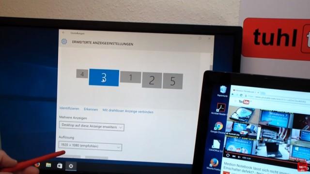 Multi Monitor Setup Windows 10 - 5 Monitore am Notebook - Monitoreinstellung mit Windows 10 - Anzeige anpassen
