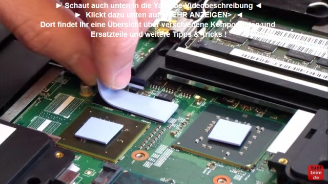 Notebook Wärmeleitpaste und Wärmeleitpad wechseln - Pads neu auflegen