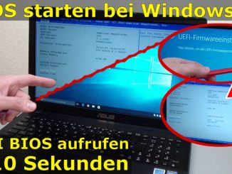 Bios starten Windows 10 - Notebook ins UEFI BIOS gelangen