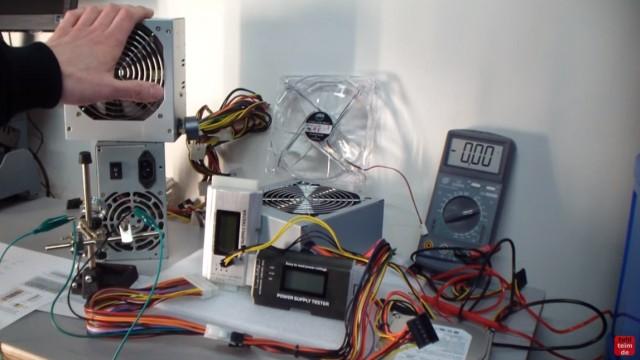 PC ATX Netzteil testen mit Multimeter oder Netzteiltester - Test von 3,3V + 5V + 12V - verschiedene Testgeräte