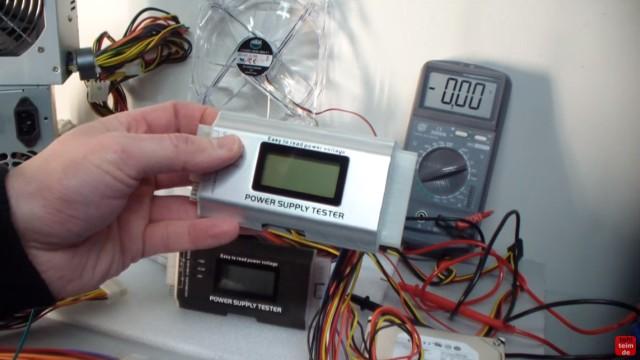 PC ATX Netzteil testen mit Multimeter oder Netzteiltester - Test von 3,3V + 5V + 12V - Netzteiltester - Power Supply Tester