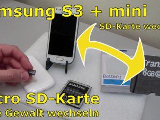 Samsung S3 mini microSD Karte ein- und ausbauen - Akku wechseln