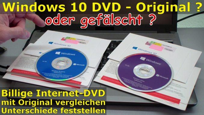 Windows 10 DVD original oder gefälscht - Sicherheitsmerkmale vergleichen