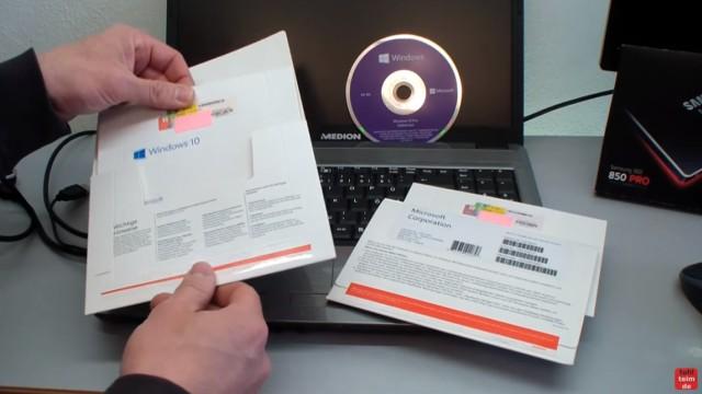 Windows 10 DVD original oder gefälscht - Sicherheitsmerkmale vergleichen - Vergleich der Pappschachteln