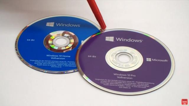 Windows 10 DVD original oder gefälscht - Sicherheitsmerkmale vergleichen - Vergleich der DVD-Datenträger