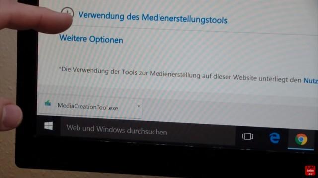 Windows 10 Download ISO Pro+Home von Microsoft und mit Media Creation Tool auf USB Stick kopieren - MediaCreationTool.exe downloaden