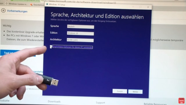 Microsoft Windows 10 Home English Usb Flash Drive: Windows 10 Download ISO Pro+Home Von Microsoft Mit Media