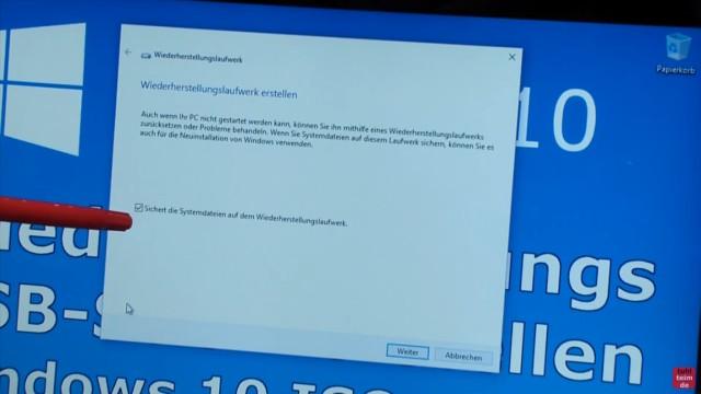 Windows 10 Recovery USB Stick erstellen zum Reinstallieren - Wiederherstellungslaufwerk erstellen starten