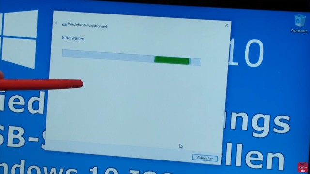 Windows 10 Recovery USB Stick erstellen zum Reinstallieren - Wiederherstellungslaufwerk wird gesucht