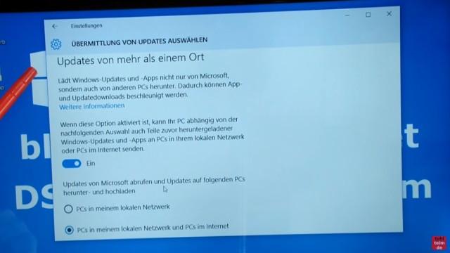 """Windows 10 blockiert Internet - DSL langsam - Browser hängt und lädt nicht - bei """"Updates von mehr als einem Ort"""" steht der Schalter standardmäßig auf """"Ein"""""""