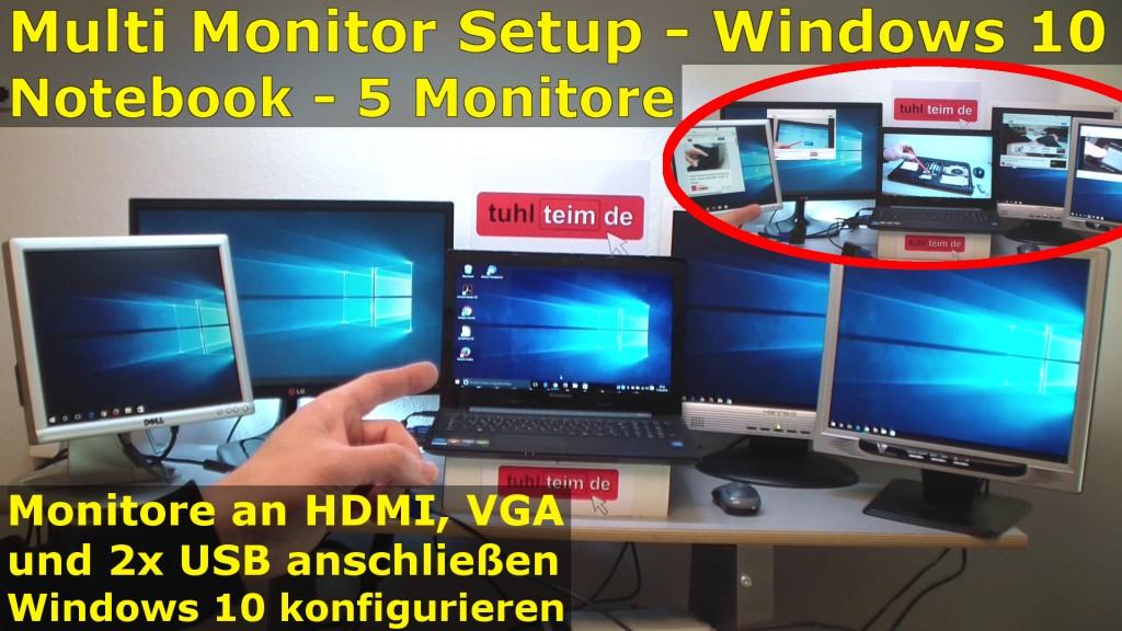 Wie können Sie zwei Monitore an einen PC anschließen