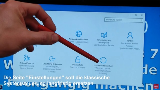 Windows 10 zurück zu Windows 7 - Update rückgängig machen - Downgrade - windows.old - Update und Sicherheit anklicken