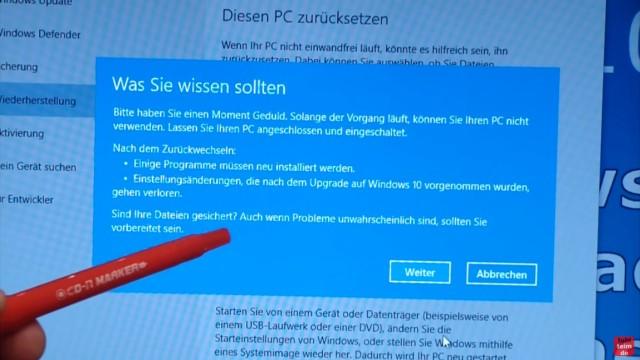 Windows 10 zurück zu Windows 7 - Update rückgängig machen - Downgrade - windows.old - Was Sie wissen sollten