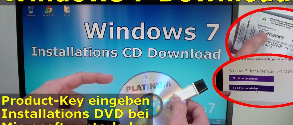 Windows 7 bei Microsoft runterladen - ISO Image Download 32Bit + 64Bit von Microsoft