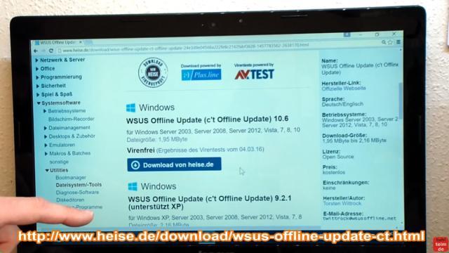 Windows 7 Updates werden nicht gefunden | Update hängt - reagiert und funktioniert nicht - ladet euch WSUS Offline herunter - diese Software lädt alle Updates für Windows 7 auf einmal von Microsoft in einen Ordner auf der Platte