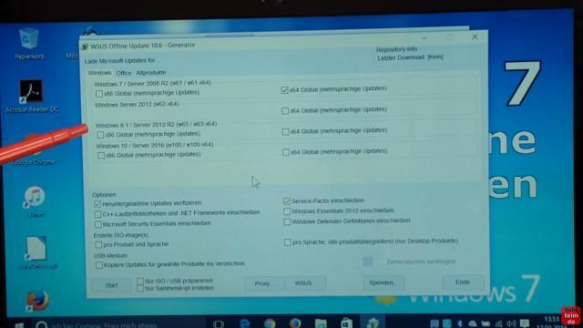 Windows 7 Updates werden nicht gefunden | Update hängt - reagiert und funktioniert nicht - WSUS Offline ist gestartet - sucht euch euer Betriebssystem aus (32-bit oder 64-bit)