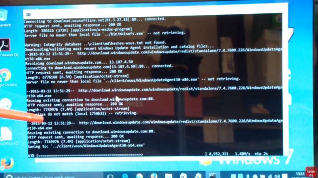 Windows 7 Updates werden nicht gefunden | Update hängt - reagiert und funktioniert nicht - WSUS Offline lädt jetzt die Updates vom Microsoft-Server auf das Notebook