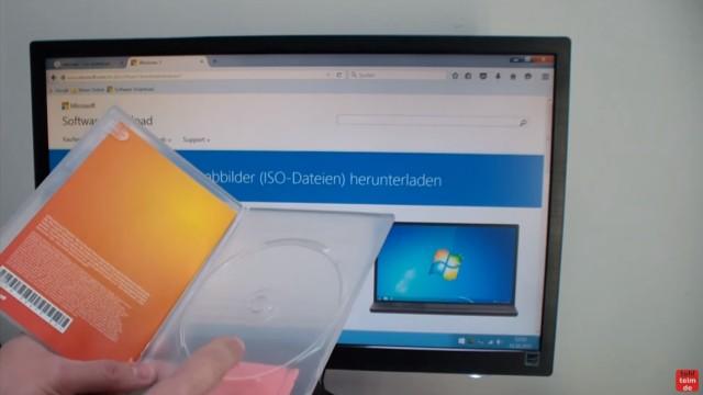 Windows 7 bei Microsoft runterladen - ISO Image Download 32Bit + 64Bit von Microsoft - ISO runterladen, wenn kein Datenträger mehr vorhanden ist