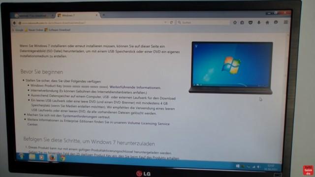 Windows 7 bei Microsoft runterladen - ISO Image Download 32Bit + 64Bit von Microsoft - Download-Voraussetzungen ... Bevor Sie beginnen