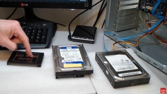 Windows 10 Festplatte klonen auf SSD oder HDD [Teil 2] Zielfestplatte ist kleiner - Ihr könnt von HDD oder SSD auf HDD oder SSD klonen