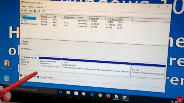 Windows 10 Festplatte klonen auf SSD oder HDD [Teil 2] Zielfestplatte ist kleiner - das sind die Partitionen des zu klonenden Originallaufwerks