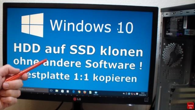 Windows 10 Festplatte klonen auf SSD oder HDD [Teil 2] Zielfestplatte ist kleiner - das Klonen ist fertig und Windows 10 läuft 1:1 auf der neuen Festplatte / SSD
