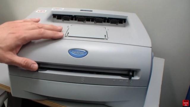 Brother HL Laserdrucker Papierstau - richtig entfernen ohne Drucker zu beschädigen - bei diesem Brother gibt es einen Papierstau