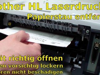 Brother HL Laserdrucker Papierstau - richtig entfernen ohne Drucker zu beschädigen