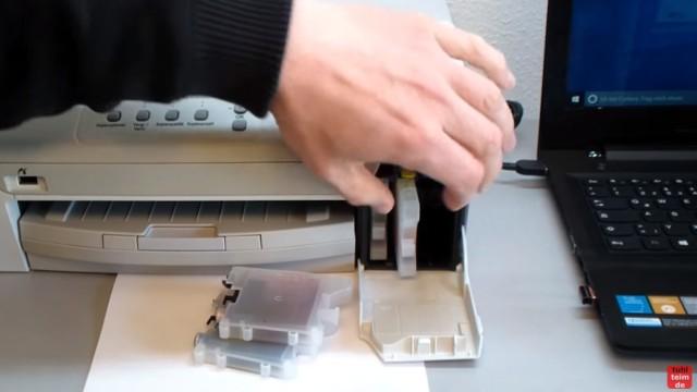Brother MFC DCP Fehler Druck + Erkennen unmöglich - Tintenpatrone Patronen defekt - Tintenpatronen entnehmen