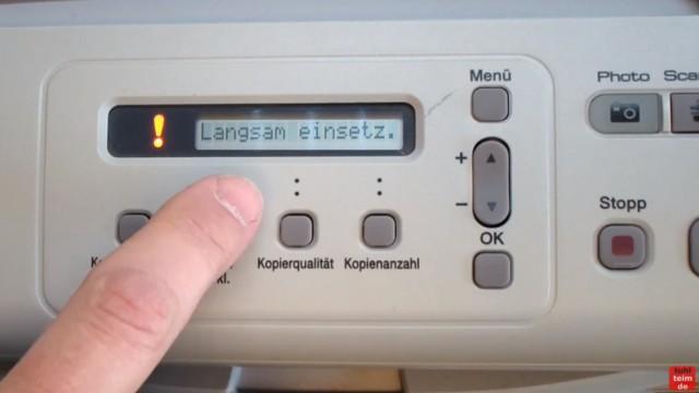 Brother MFC DCP Fehler Druck + Erkennen unmöglich - Tintenpatrone Patronen defekt - Fehlermeldung - Langsam einsetzen