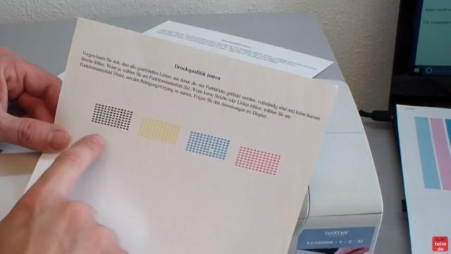 Brother MFC DCP Fehler Druck + Erkennen unmöglich - Tintenpatrone Patronen defekt - Testausdruck fast 100%-tig einwandfrei