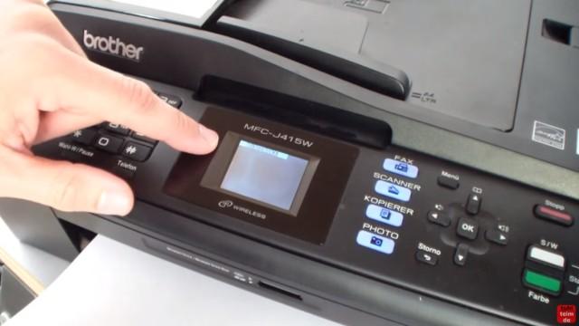 Brother MFC Reinigungszähler zurücksetzen - Purge Counter Reset - Reinigen - geht dazu mit der Tastatur in den Wartungsmodus