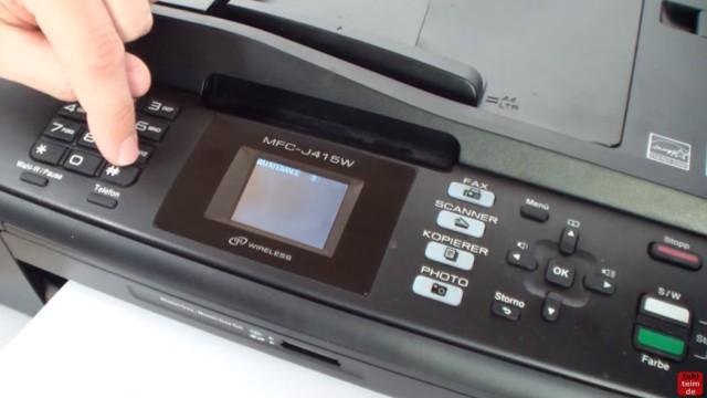 Brother MFC Reinigungszähler zurücksetzen - Purge Counter Reset - Reinigen - verlasst den Wartungsmodus über die Tastatur