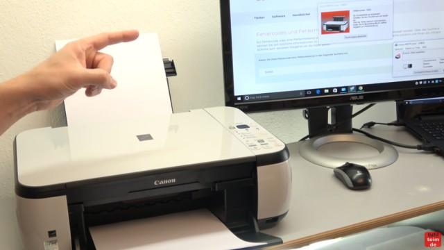 Canon Pixma Drucker 5200 Fehler mit dem Druckkopf - Drucker reagiert nicht - Druckerfehler 5200 wird auf dem Bildschirm angezeigt