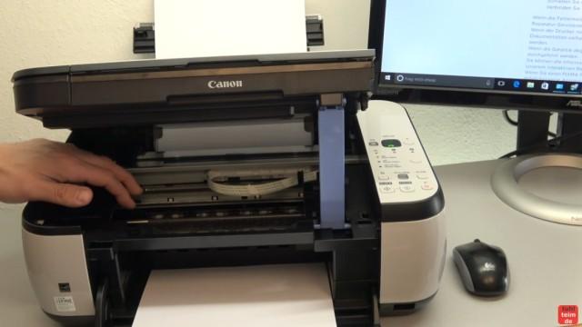 Canon Pixma Drucker 5200 Fehler mit dem Druckkopf - Drucker reagiert nicht - im Drucker sind keine Fremdkörper oder Gegenstände zu finden