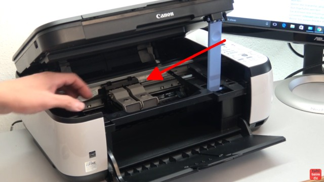 Canon Pixma Drucker 5200 Fehler mit dem Druckkopf - Drucker reagiert nicht - Drucker neu einschalten und Kopf kontrollieren